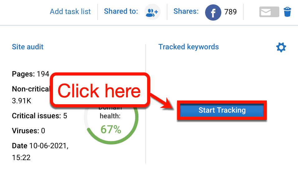 Start Tracking Button