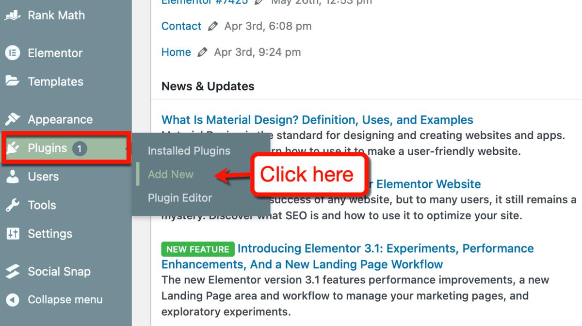 Add New Plugins on WordPress