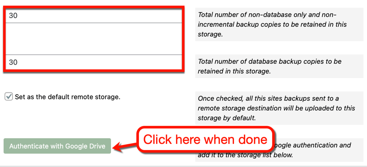 Authenticating Your Google Drive Account
