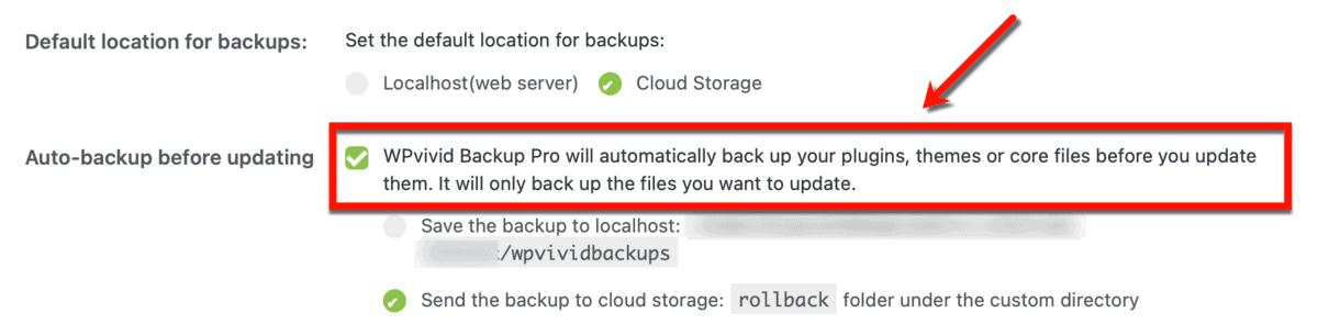 Enabling Automatic Backups