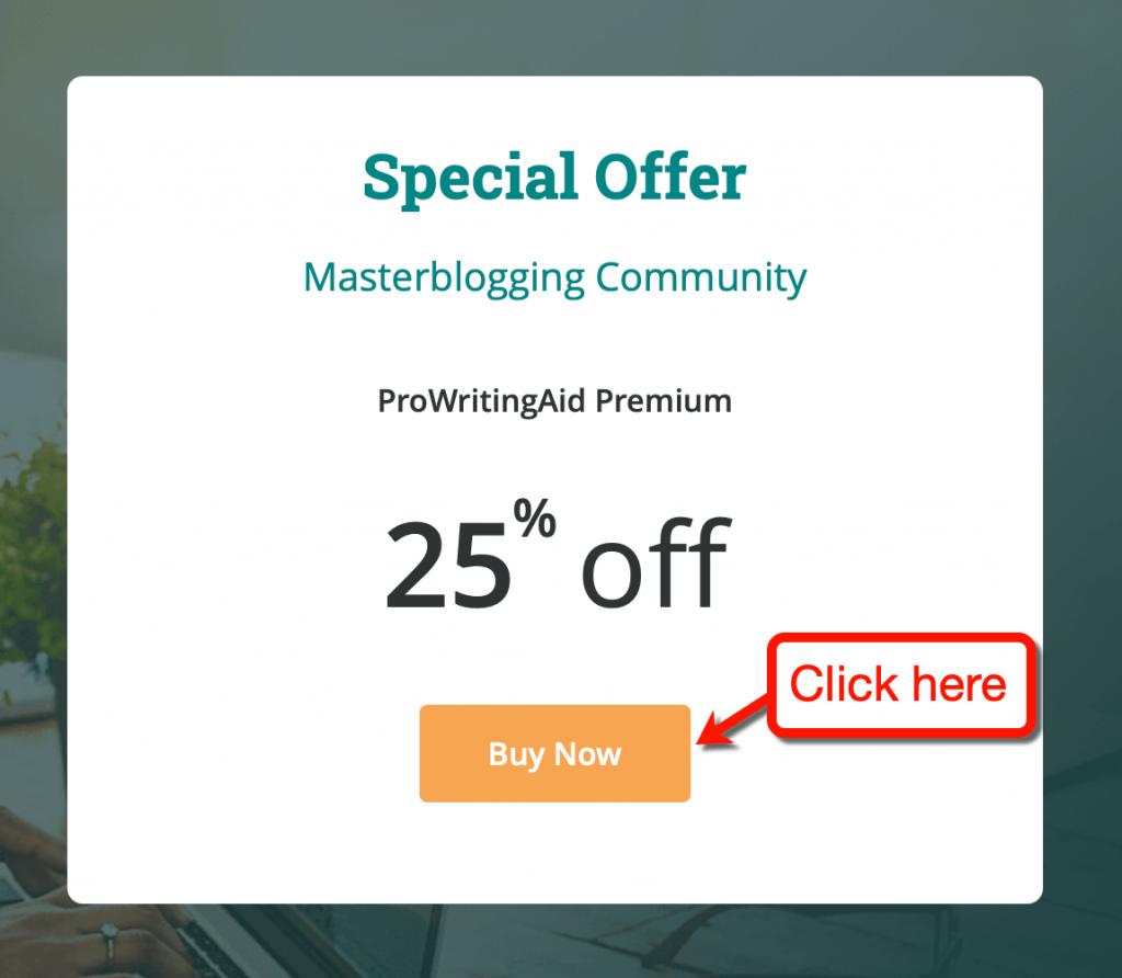 Special Offer Master Blogging