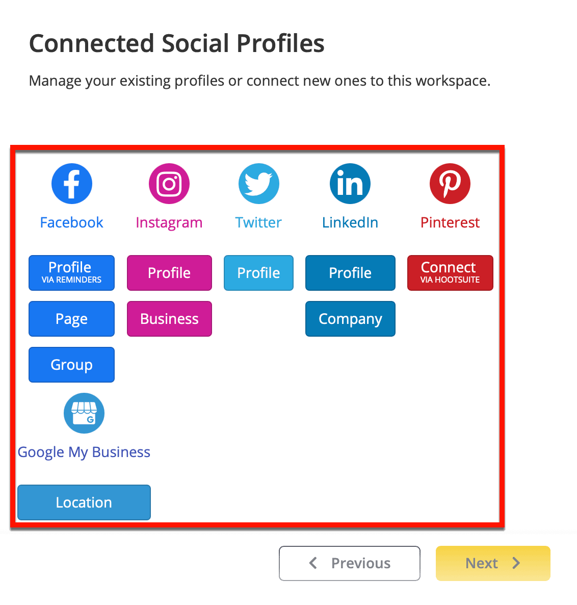 Connect Your Social Profiles