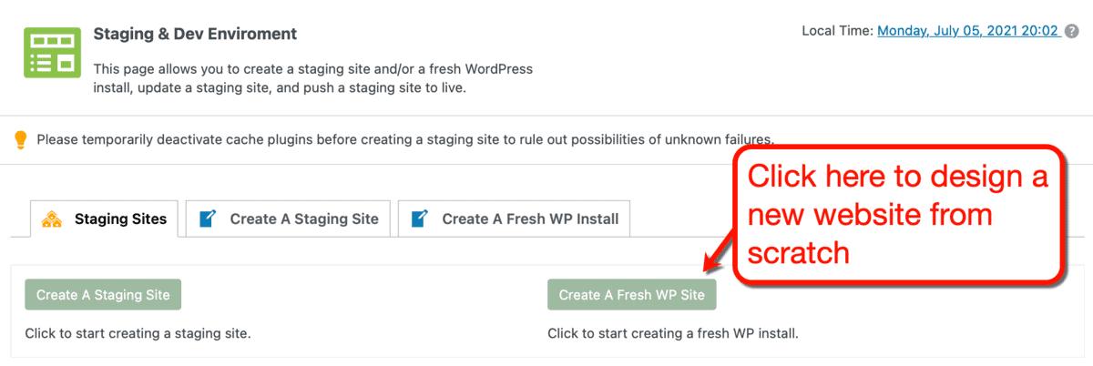 Creating a Fresh WP Install