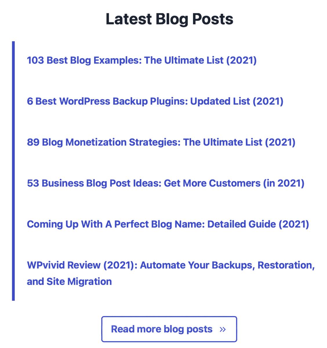 Latest Master Blogging Content
