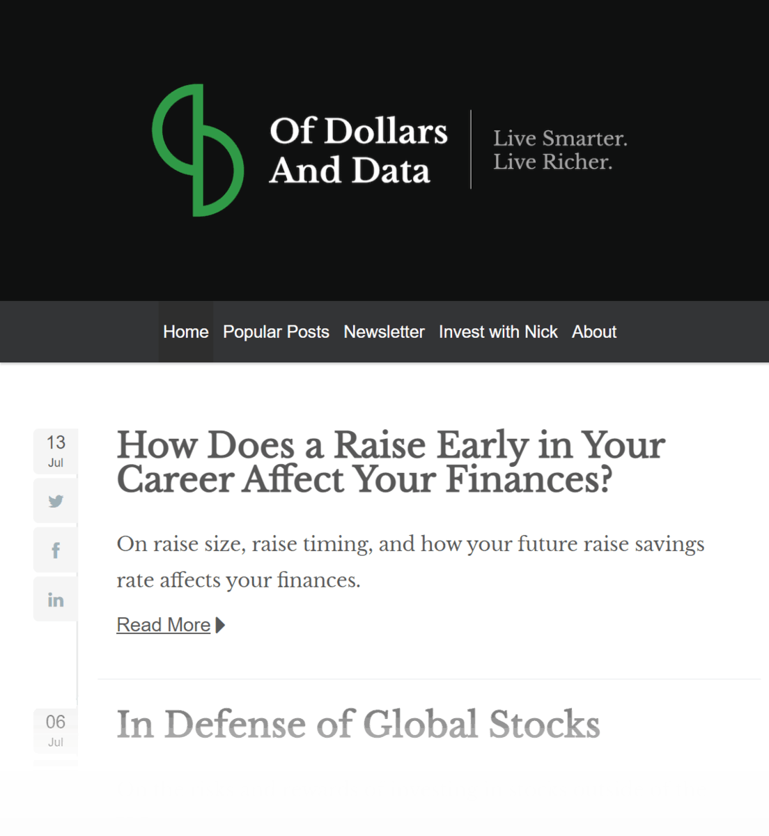 Of Dollars And Data