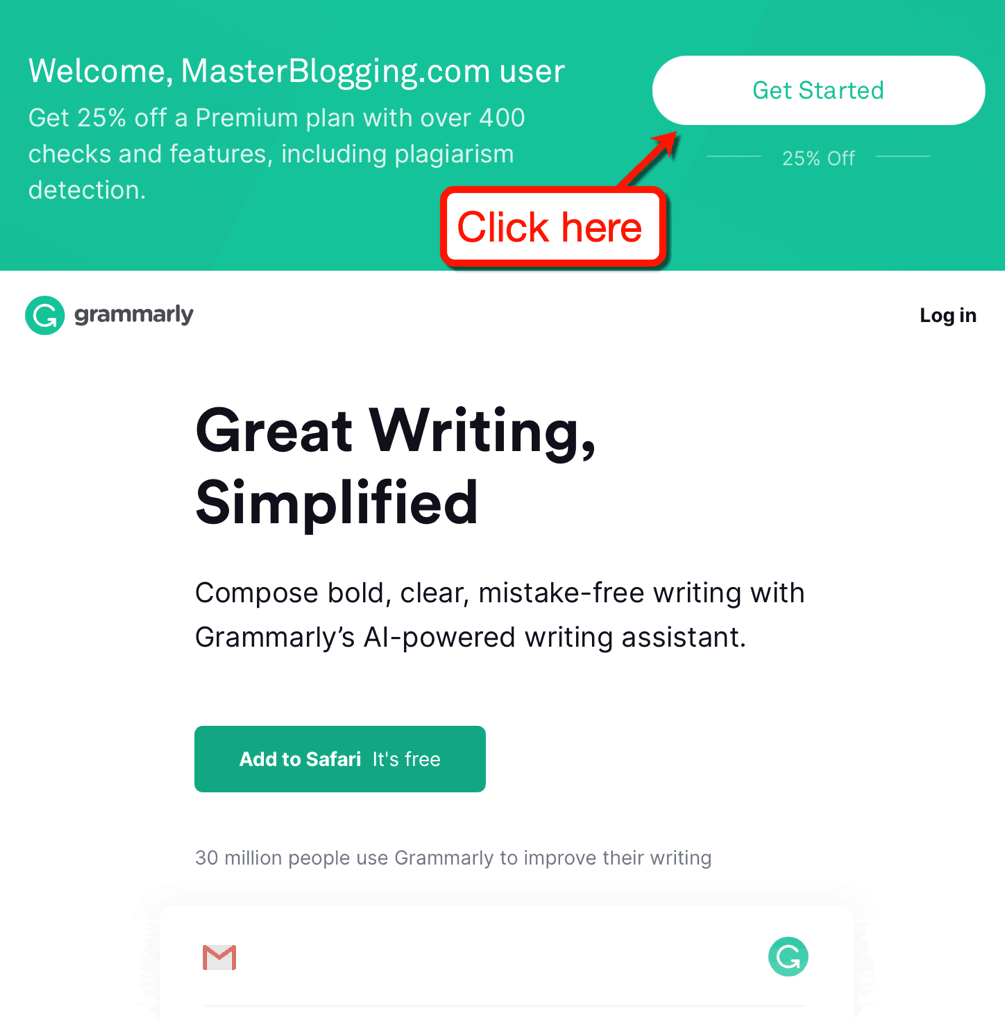 Official Master Blogging Discount