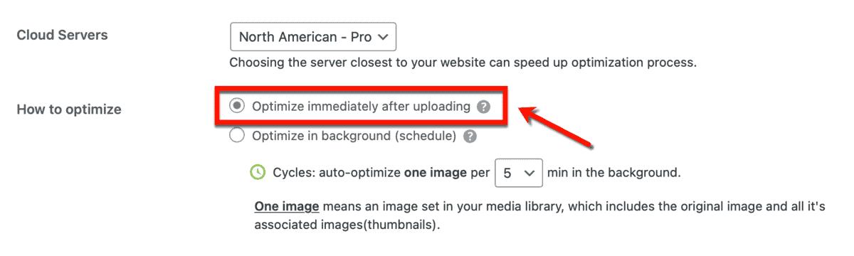 Optimize Images After Uploading