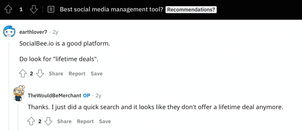 Reddit Recommendation