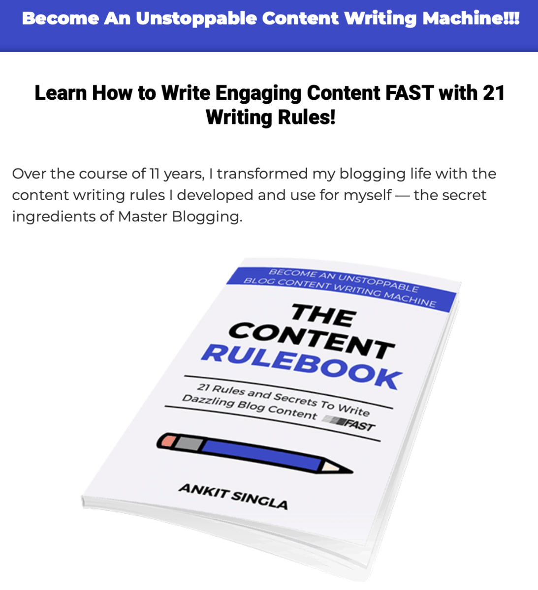 The Content Rulebook
