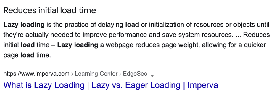 What is Lazy Loading?