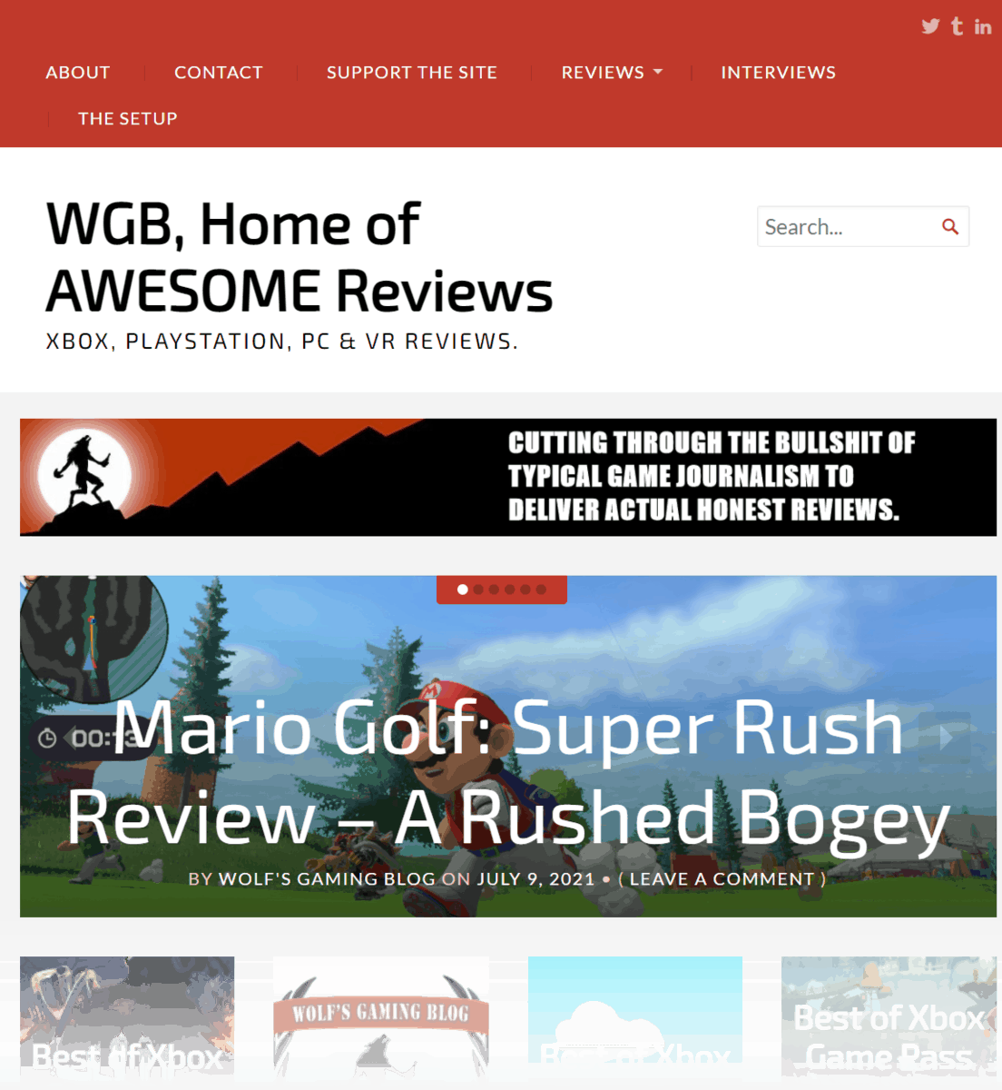 Wolf's Gaming Blog