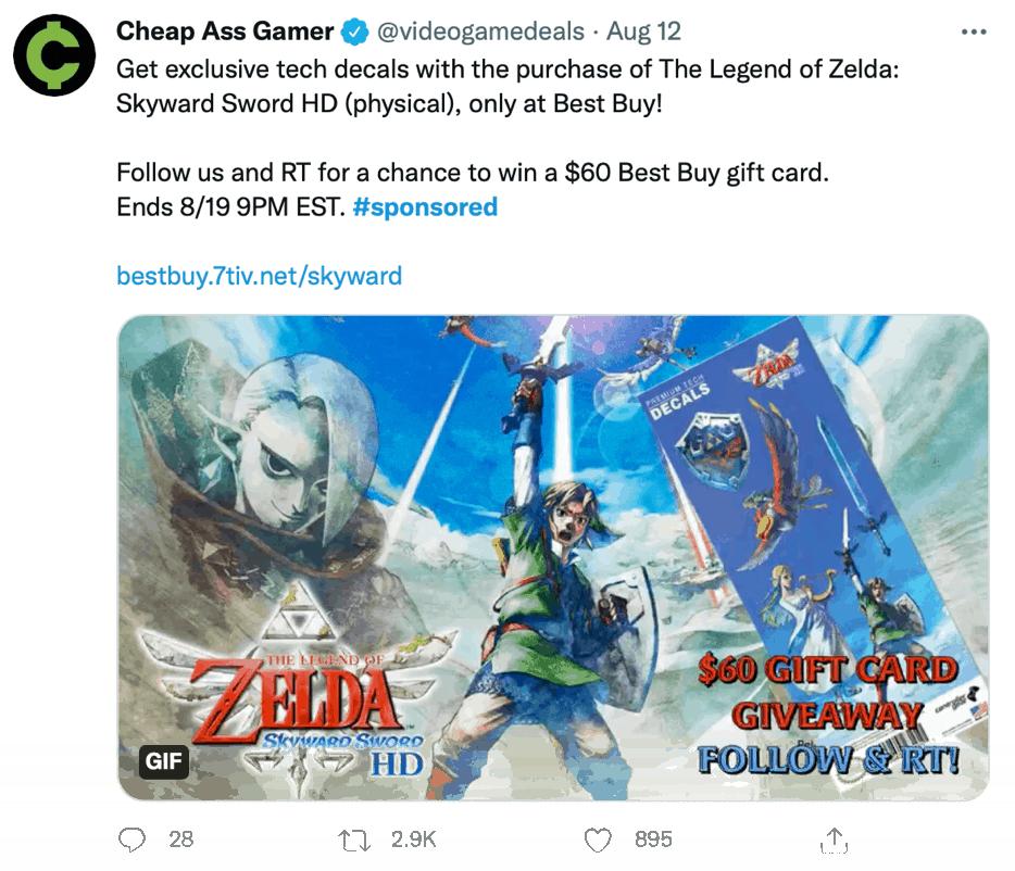 Cheap Ass Gamer Monetized Tweet