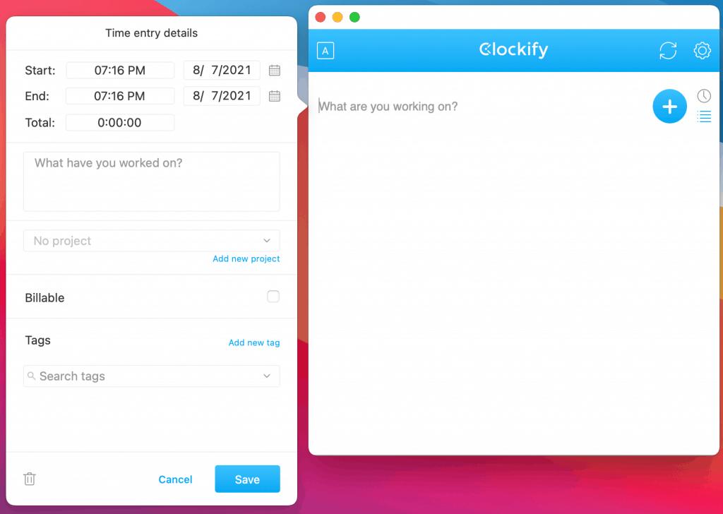 Clockify Desktop App