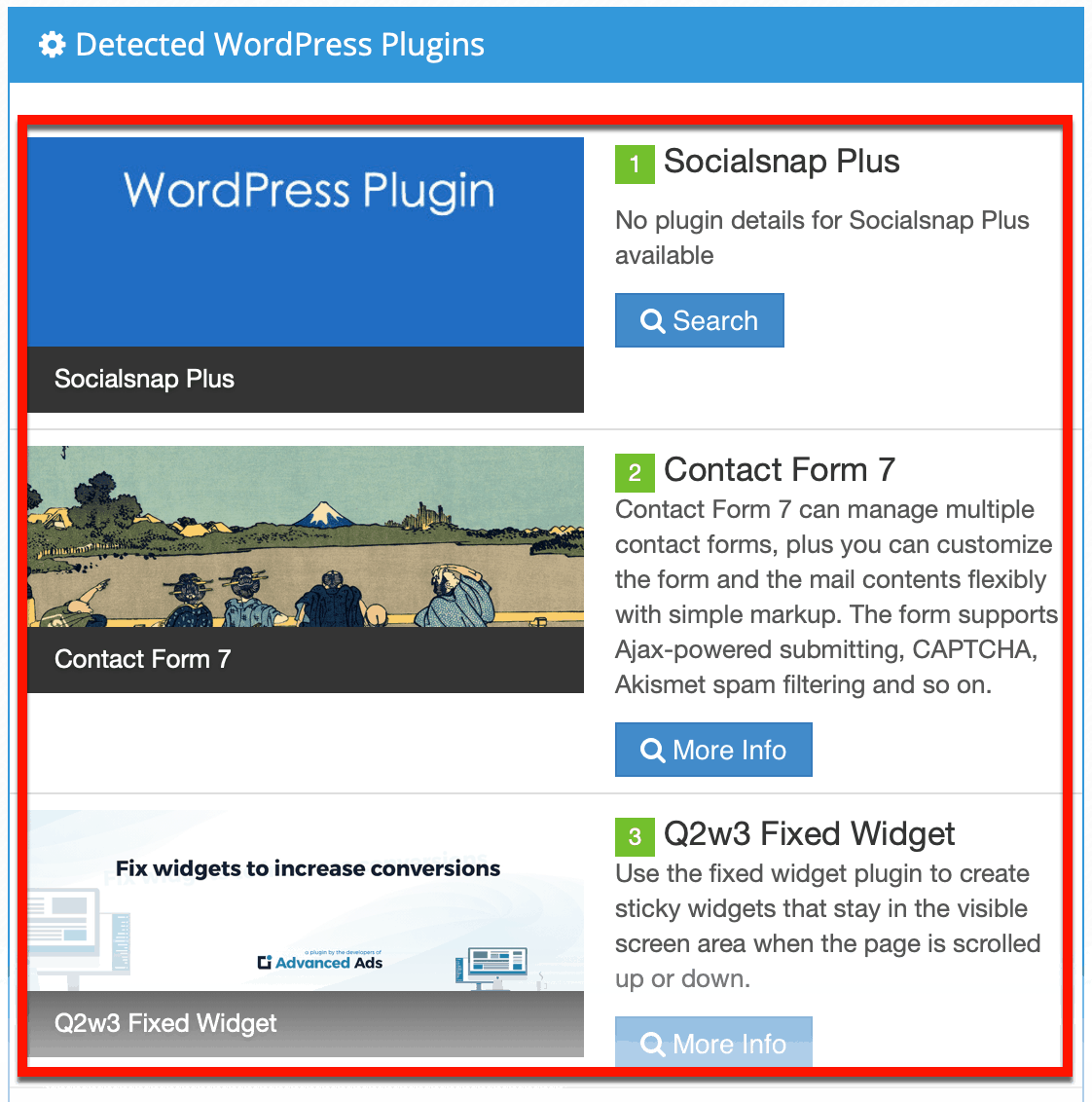 Detected WordPress Plugins for HomeGrounds