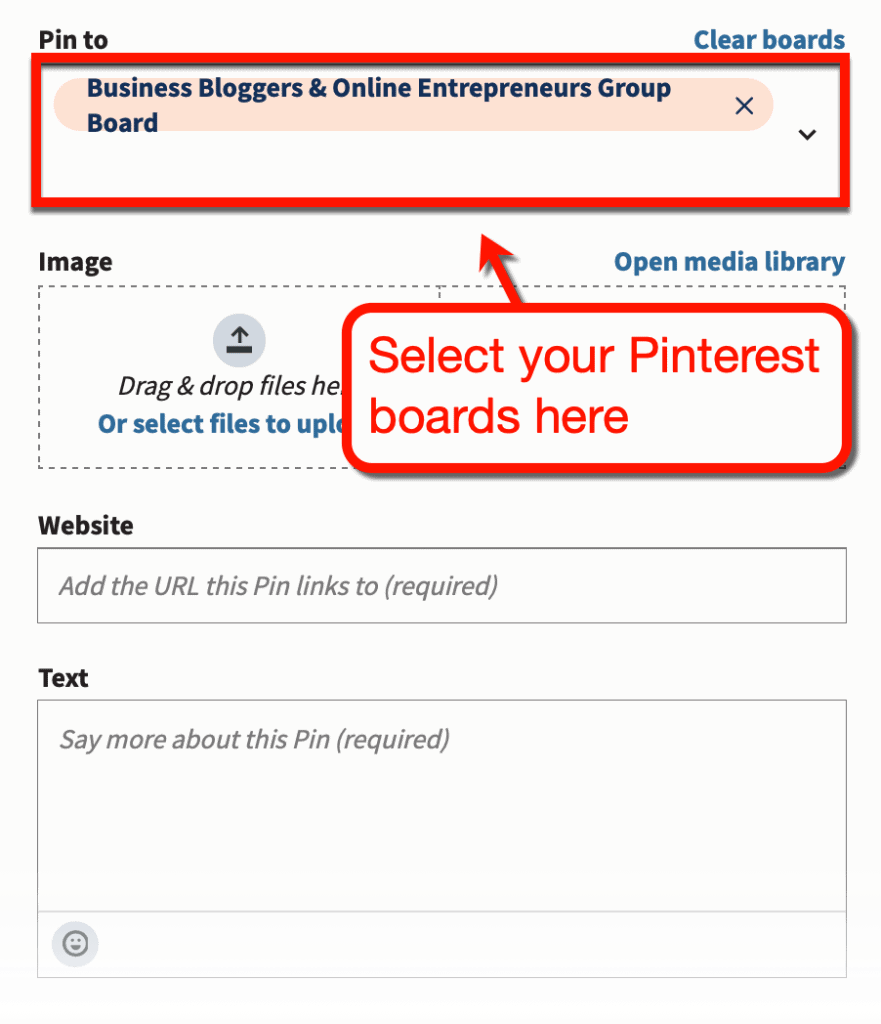 Create New Pin with Hootsuite