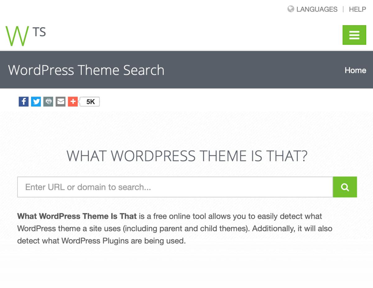WordPress Theme Search Tool